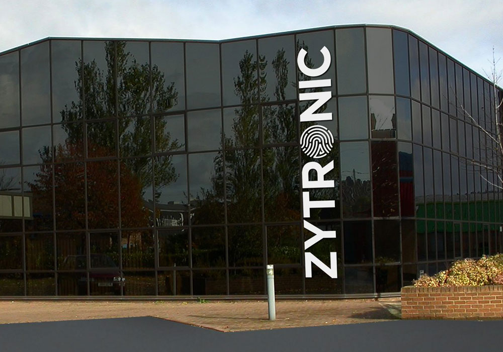 Zytronic graphic branding on building
