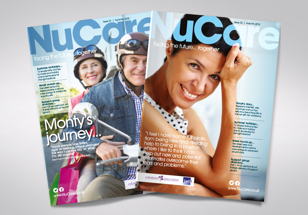 NuCare magazine covers