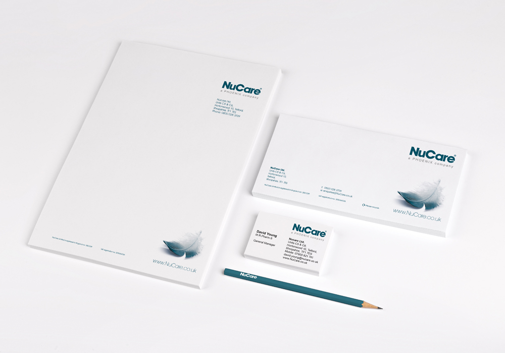 NuCare Stationary made by our creative design agency