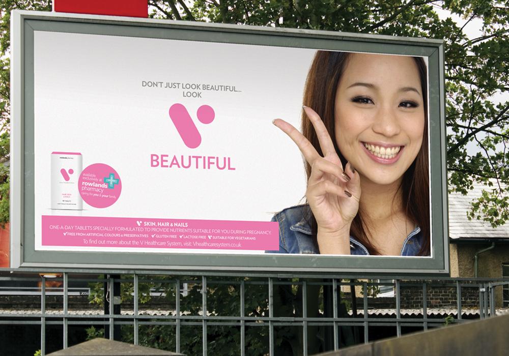 V Healthcare large promotional billboard