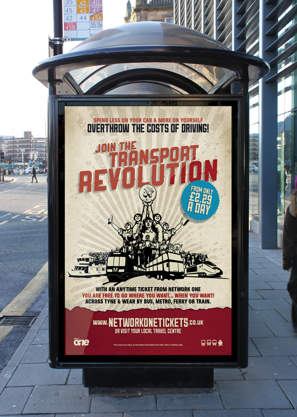 Join The Transport Revolution poster advertisement
