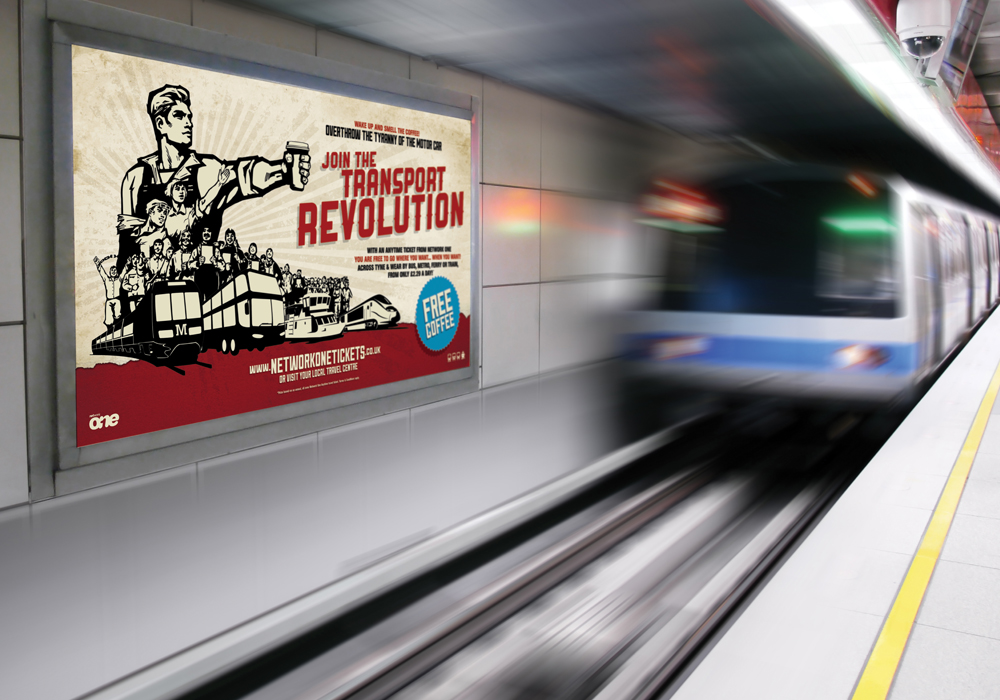 Join The Transport Revolution campaign advertisement in metro station