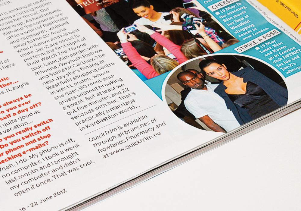 Quick Trim Kim kardashian magazine feature