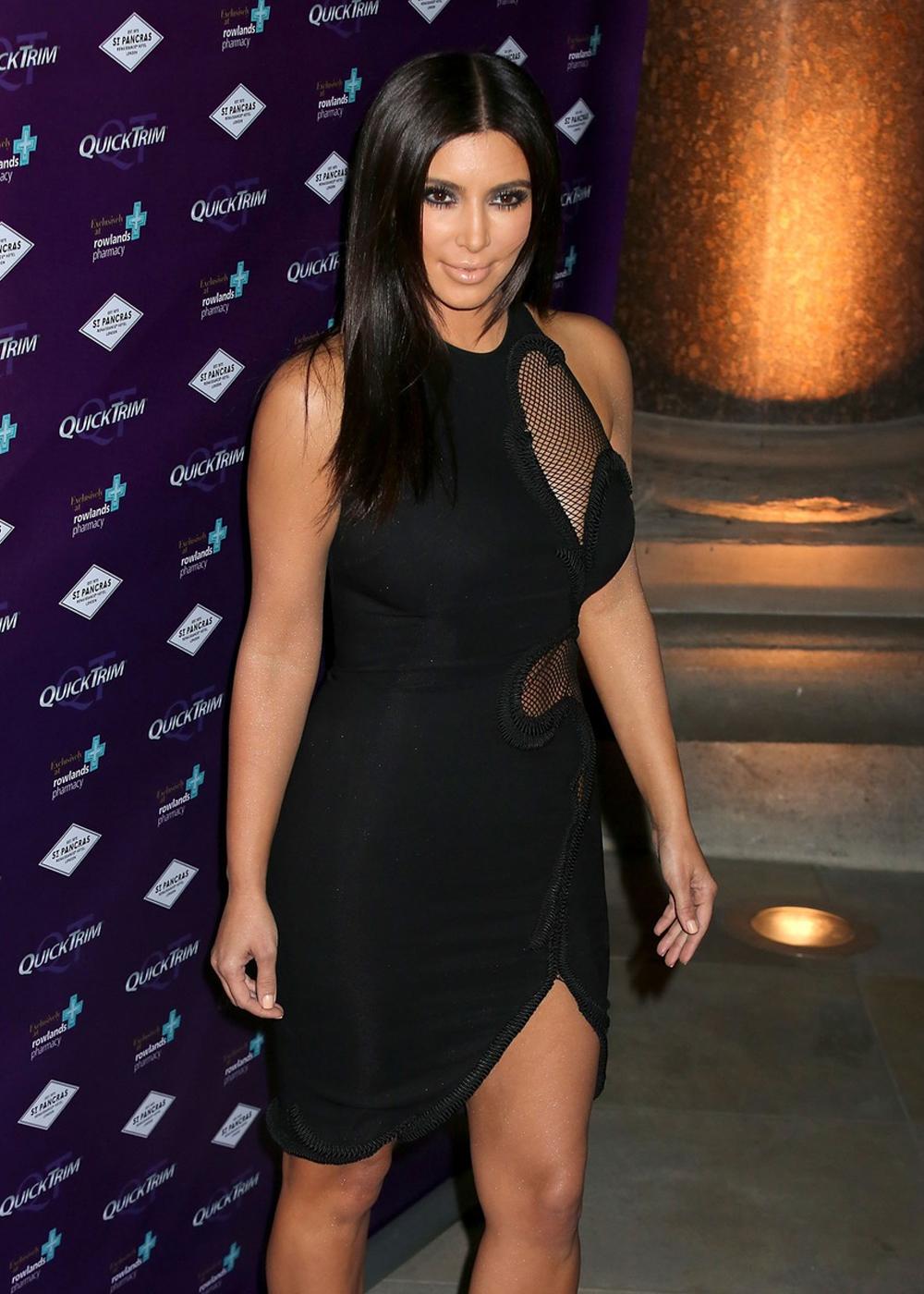 Kim Kardashian Quick Trim press event