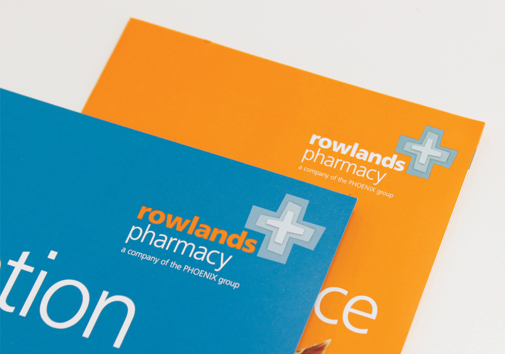 Close up of Rowlands Pharmacy leaflet