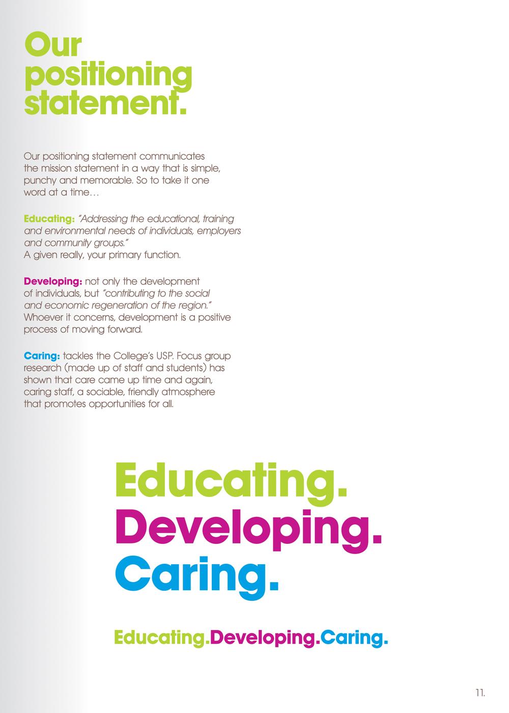 East Durham College position statement