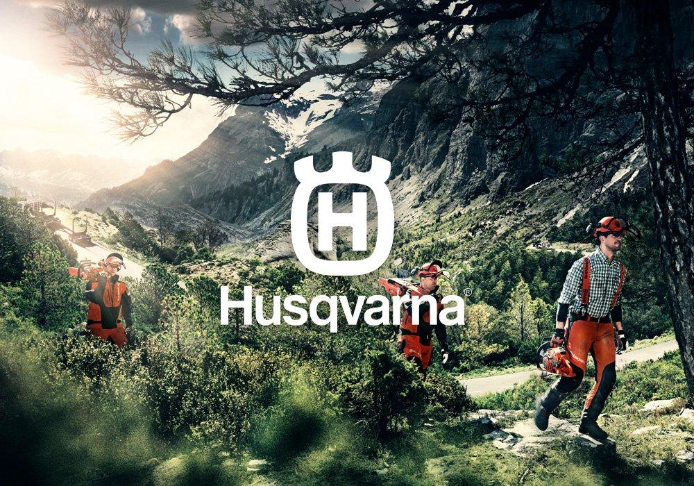 Husqvarna brand logo quarter size