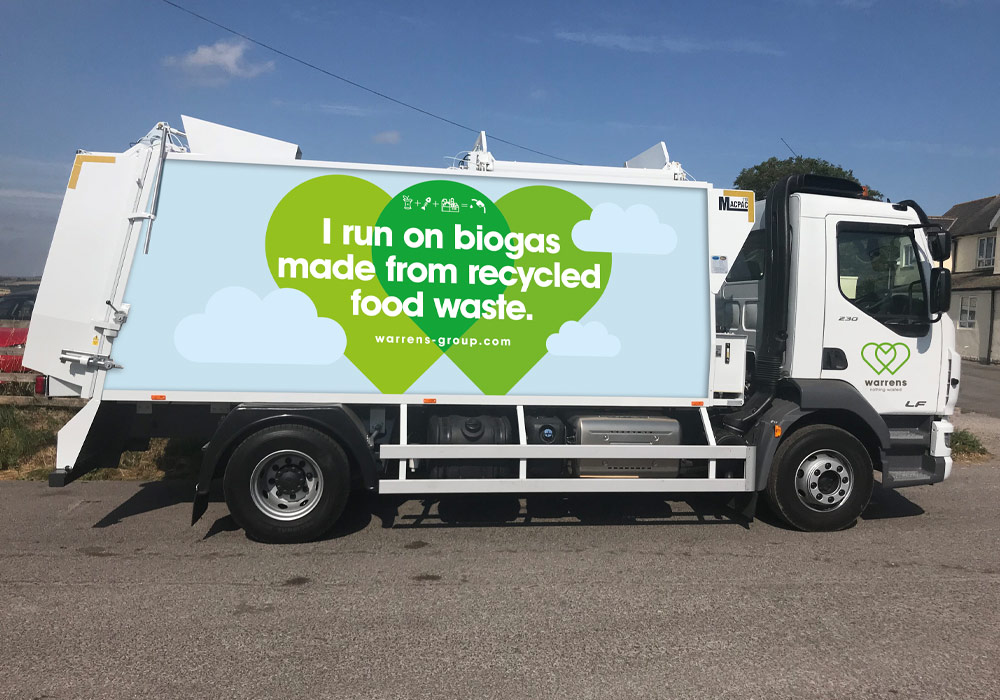 Biogas powered truck to illustrate real results